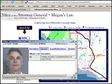 The Megan's Law website for California