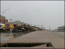 Stuart Robinson took this picture of Galveston's shore