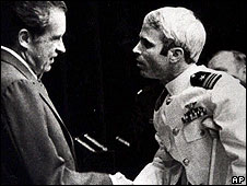 Richard Nixon meets John McCain in 1973
