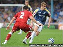 Paul Parry in action against Bristol City