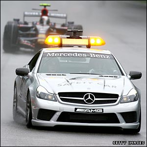 The Italian Grand Prix starts behind the safety car