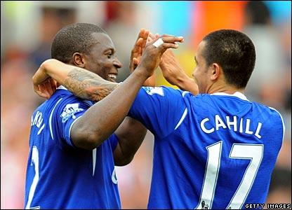 Yakubu, Tim Cahill, Everton