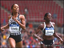 Sanya Richards beats Christine Ohuruogu