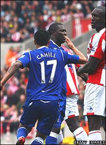 Tim Cahill celebrates