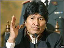 Evo Morales, 13 Septermber 2008