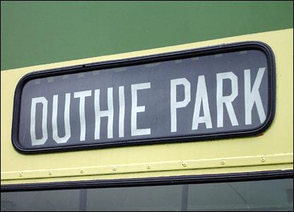 Duthie Park bus sign