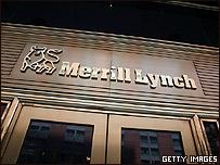 Entrada de sede de Merrill Lynch.