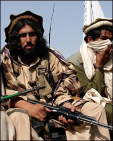 Taleban fighters in South Waziristan in Pakistan, May 2008