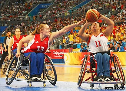 GB's wheelchair basketball women's team