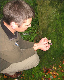 Duncan Ford with fungi