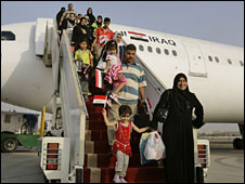 Iraqis returning home from Egypt, August 2008