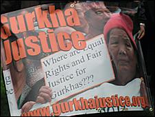 Gurkhas justice banner