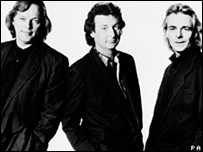 Gilmour (izquierda) Mason (centro) y Wright siguieron juntos hastas los noventa.