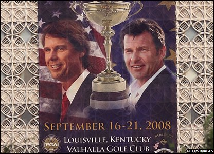 Poster promoting the Ryder Cup