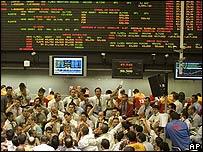 Mercado bursátil de Sao Paulo el 15 de septiembre de 2008