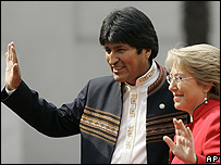 Morales y Bachelet
