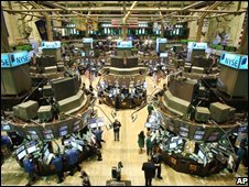The trading floor at the New York Stock Exchange