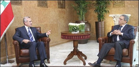 President Suleiman receives Amr Moussa of the Arab League