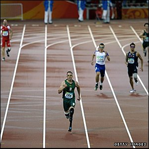 Oscar Pistorius winning the T44 400m final
