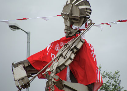 Statue with Tyrone GAA shirt