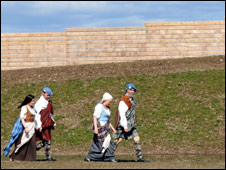 Actors at Culloden. Pic: NTS