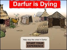 Screenshot of Darfur is Dying,