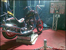 A tribute bike which was created by Hell's Angels Wolverhampton