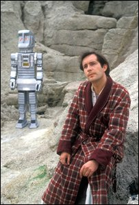 David Learner as Marvin the paranoid android and Simon Jones as Arthur Dent