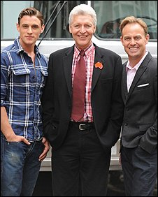 Oliver Thornton, Tony Sheldon and Jason Donovan. (Photo credit: James Morgan)