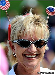 A colourful USA spectator