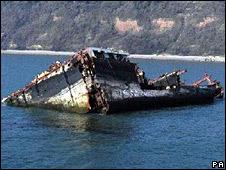 MSC Napoli wreck