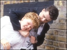 Gripper Stebson (Mark Savage) in bullying action