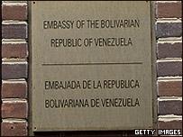 Fachada de la Embajada de Venezuela en Washington