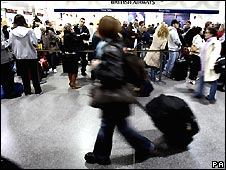Passengers at Gatwick Airport