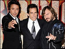 Robert Downey Jr, Ben Stiller and Jack Black
