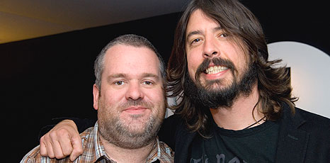Dave Grohl and Chris Moyles