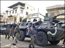 Lebanese troops in Tripoli