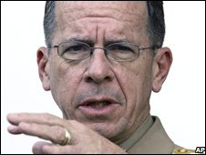 U. S. Chairman of the Joint Chiefs of Staff Admiral Mike Mullen speaks to the media after talks with Turkish leaders, in Ankara, Turkey, Sept. 15, 2008