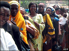 Women voters in Rwanda