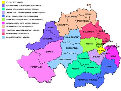 Map of local councils