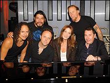 Metallica, Carla Bruni and Jools Holland (far right)