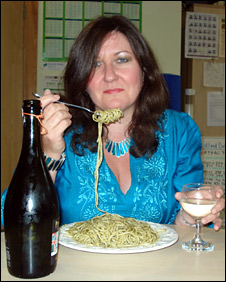 Angela Soave with pasta