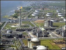 Shell oil and gas terminal in Nigeria's Niger Delta (file image)