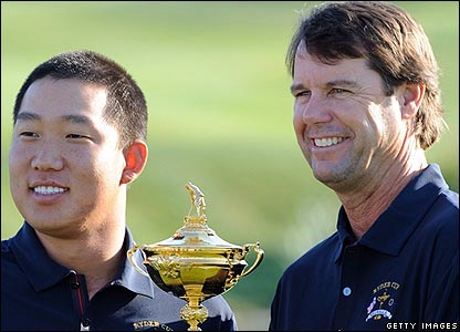 Anthony Kim and Paul Azinger