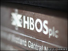 HBOS name plate