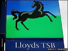 Lloyds TSB branch sign