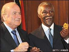 Sepp Blatter and Thabo Mbeki