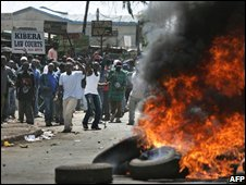Protest in Kibera (Dec 2007)