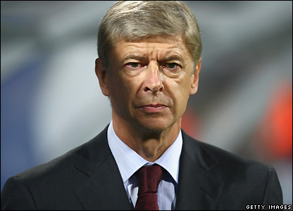 Wenger watches from the sidelines