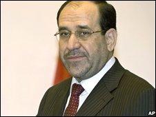 Iraqi Prime Minister Nouri al-Maliki in Baghdad  (15/09/2008)